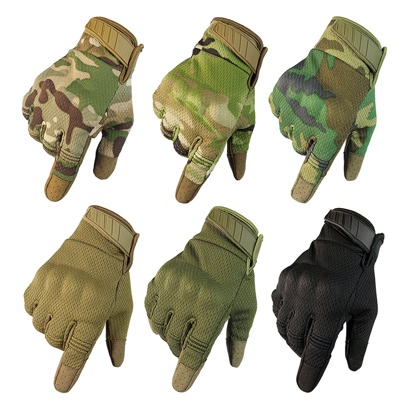 Cycling Gloves Tactical Glove Camo Army Military Combat Airsoft Outdoor Hiking Shooting Paintball Hunting Full Finger Glove