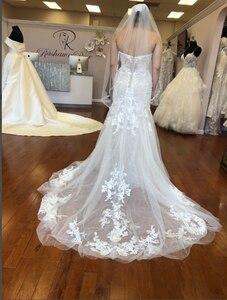 Image 2 - 2020 г., платье для верховой езды, красивое свадебное платье по индивидуальному заказу, свадебные платья, кружевное Тюлевое платье YE002