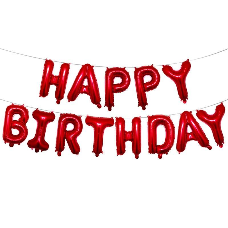 红色生日字母