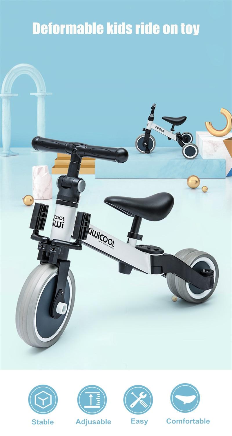 H018d89e6a0ec4da78e089c487b4e61ccf 3 in 1 Kids Tricycle + Balance bike + Baby walker Child Push Bike Toddler Learn to Ride Bicycle Ride On Toy Boy Girl Xmas Gift