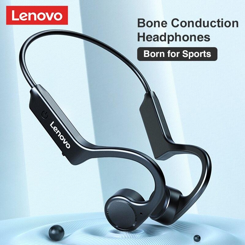 Bluetooth-наушники Lenovo X4 с костной проводимостью, спортивные водонепроницаемые беспроводные Bluetooth-наушники для бега, новый дизайн 2021