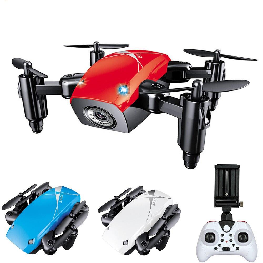 S9 S9HW Mini Drone con cámara HD S9 No Cámara plegable RC Quadcopter altura mantener helicóptero WiFi FPV Micro bolsa drone