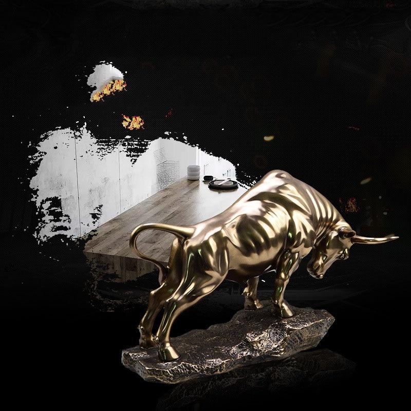 اكسسوارات تماثيل الحيوانات تمثال الثور الذهبي اكسسوارات منزلية