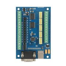 step motor driver USB 5 Axle 100K Control Card for Mach3 +4 pcs TB6600 Driver Board CNC Motion Control Set microstep driver(China)