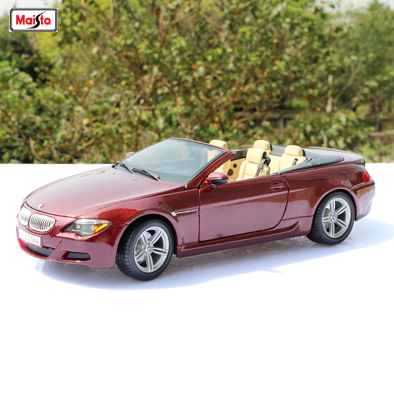 Maisto 1:18  BMW M6 car alloy car model simulation car decoration collection gift toy Die casting model boy toy