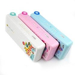 Kreatywne wielofunkcyjne pudełko na artykuły biurowe plastikowe dwuwarstwowe zamek szyfrowy piórnik dzieci piórnik prezent dla studentów