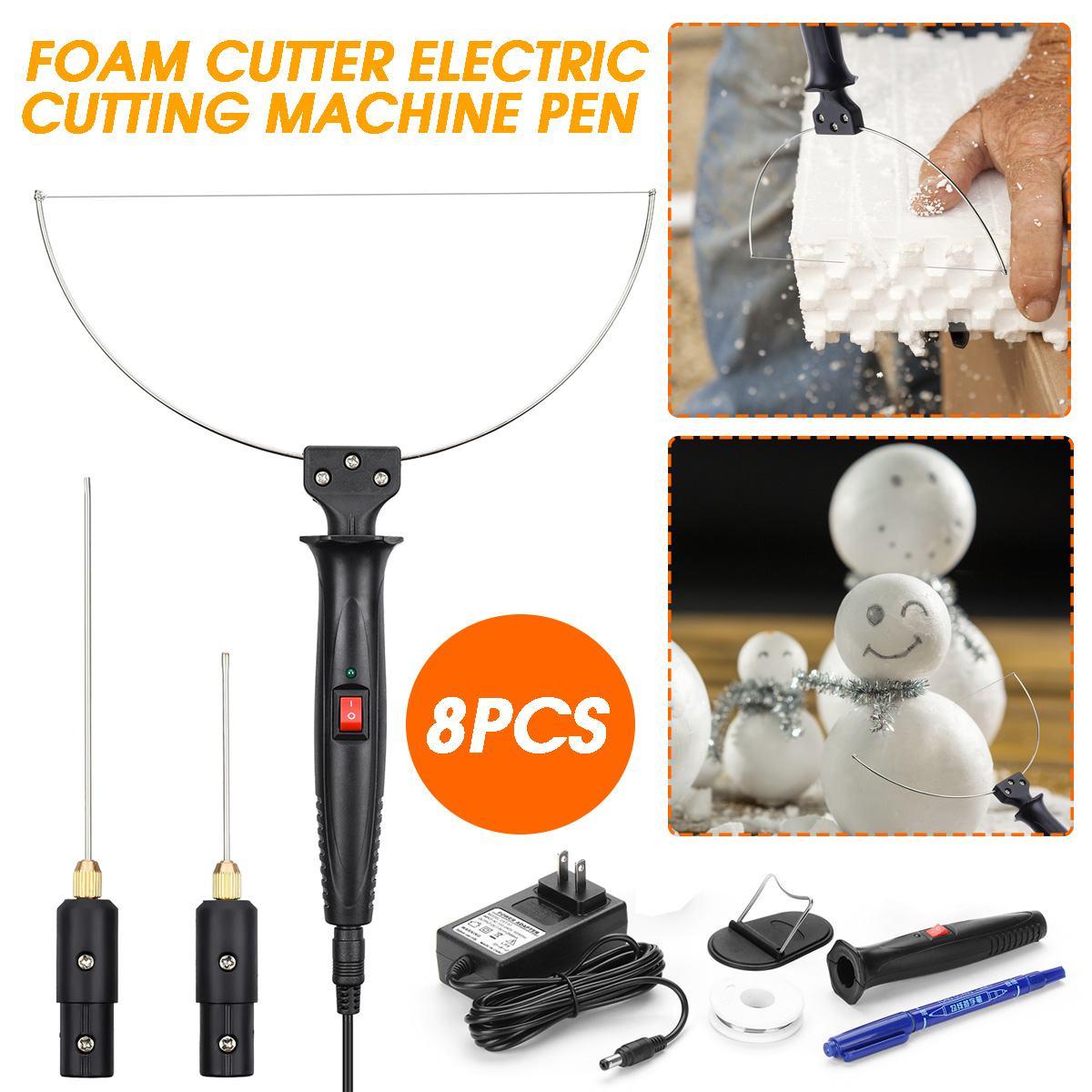 KIWARM 3 In 1 Electric Styrofoam Cutter 18W Cutting Machine Pen Tool Set Alloy Portable Foam Cutting Knife Tool Hot Heating Wire