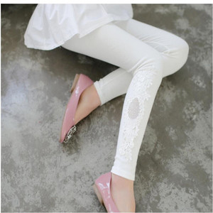 Image 4 - XS 7XL Leggings Women Cotton Lace Decoration Leggings 2020 Leggins Plus Size Long Leggings Size 7XL 4XL 3XL XXL XL L M S 6XL 5XL