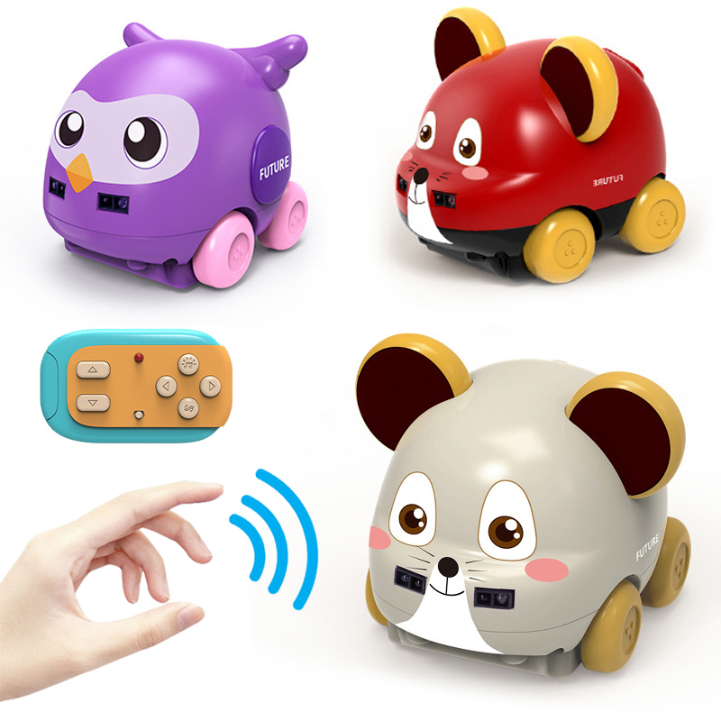 2020 New Cartoon Animal Remote Control Stunt Car RC Gesture Control Tracker Car With Music Function RC Toys Gifts For Children