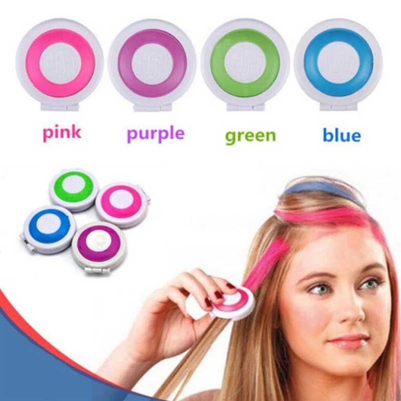4 Màu Tạm Thời Tóc Sắc Tố Tóc Phấn Bột Mềm Salon Tóc Tự Làm Phấn Dành Cho Tóc Tạo Kiểu Đảng giáng Sinh