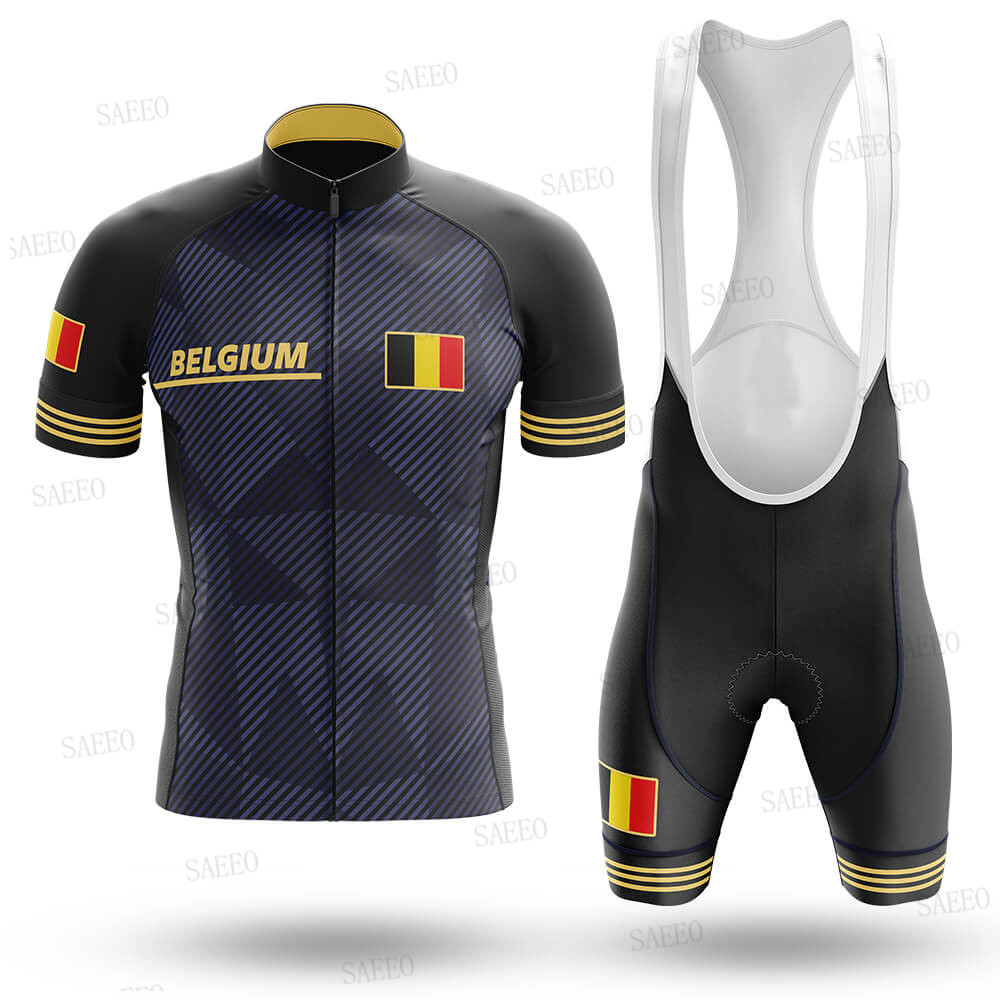 Cycling Jersey 2020 Belgium Pro Team Cycling Jersey Set Summer Breathable Quick-drying Maillot Ciclismo Cycling Clothing