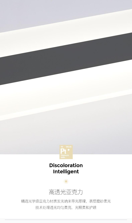 Luxo longo tira de luz parede ouro