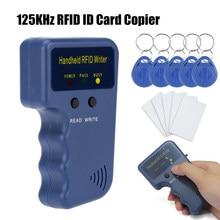 125khz handheld rfid escritor rfid duplicador copiadora escritor programador leitor cartão de identificação cloner & chave para casa