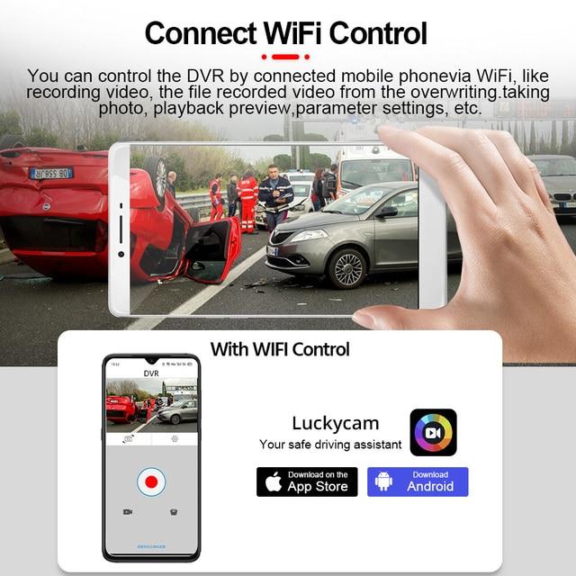 E-ACE B44 Car Camera 4K Dash Cam GPS Track WiFi Car DVR Dashcam Sony IMX335 Sensor Night Vision Recorder 3