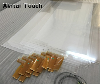 """65"""" 10 Points Transparent soft capacitive multi interactive touch foil film 16:9 format work for kiosk, display, lcd etc"""