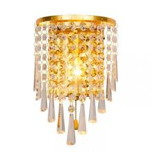 Appliques Luminaires Murales Bathroom Wall Light For Home Silver Crystal  Modern Led Indoor Lamps Lighting Mirrors