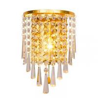 Modern Crystal Wall Lamp Wall Sconce Aisle Lighting Fixtu Silver Crystal Modern Led Indoor Wall Lamps Bathroom Lighting Mirrors