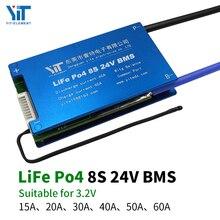 8S 24V Pin Lithium 3.2V Ban Bảo Vệ Nhiệt Độ Cân Bằng Bảo Vệ Quá Dòng BMS PCB 15A 20A 30A 40A 50A 60A