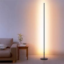 Nordic Minimalist LED Floor Lamps Standing Lamps Living Room Black/White Aluminum Luminaria Standing Lamps Decor Light Fixtures