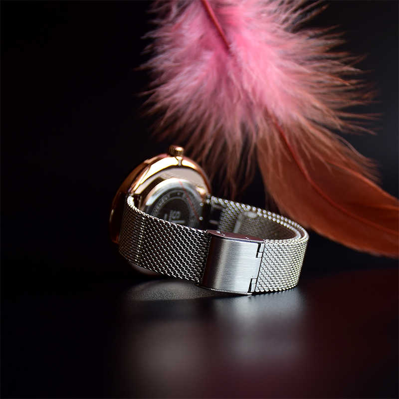 Shengke Creative נשים שעונים 3 צבעים אופנתי יפני קוורץ גבירותיי שעון יוקרה נירוסטה שעון Reloj Mujer אשת מתנות