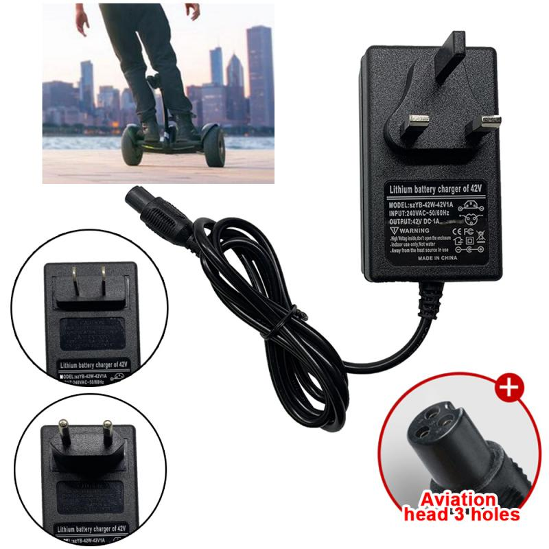UK//EU//US Plug Charger Power Adapter For Segway Hoverboard Balance Board 42V 2A