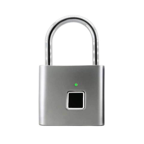 USB Rechargeable Smart Keyless Electronic Fingerprint Lock Home Anti-theft  Safety Security padlock Door Luggage Case lock Islamabad