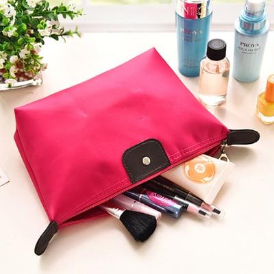 Insert Bag Women Nylon Travel Insert Organizer Handbag Purse Large Liner Lady Makeup Cosmetic Bag Cheap Female Tote 1 Pcs