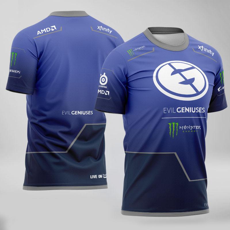 Equipe do mal gênios camisa fãs tshirt dos homens das mulheres por exemplo camiseta id personalizado camiseta uniforme csgo dota2 lol lcs