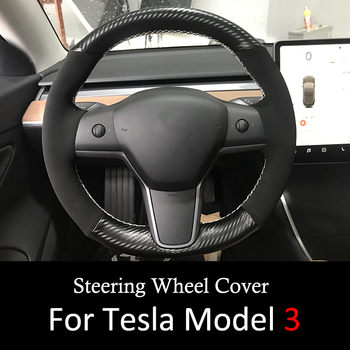 Internal Accessories Car Styling Decoration Steering Wheel Cover For Tesla Model 3 2017 2018 2019