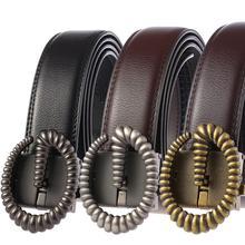 2019 Men Belt Genuine Leather Automatic Buckle Luxury Cowskin Male Belts Black Waist Strap G Designer Fashion Mens