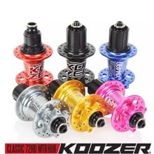 Mountain-Bicycle-Disc Koozer Xm490 Front/Rear-Hub 6-Pawls Cassette 4-Bearings Body-135mm