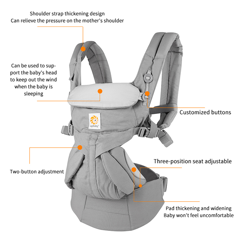 Infant Carrier Backpack Sling-Wrap Omni Multifunction Egobaby Toddler Breathable 360 title=