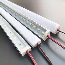 DHL FedEx 10-20 pz/lotto 1M perfil alluminio LED barra luminosa rigida DC12V 5730 72LEDs ha condotto l'illuminazione di alluminio della decorazione della casa del canale