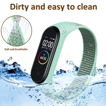 Nylon Strap for Xiaomi Mi band 6 4 3 5 Bracelet Wristband Sports Breathable Bracelet For Miband 6 5 4 3 Replacement Strap 2