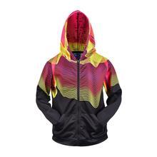 3D Men Hoodies Zip Up Splatter Color Stripes 3D Print Hip Hop Streetwear Casual Jacket Men Women Outwear Hipster Hood Hoodies недорого