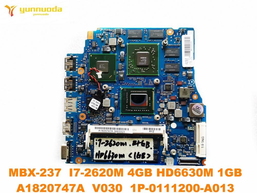 Original for SONY MBX-237 laptop motherboard 13.3 MBX-237 <font><b>I7</b></font>-<font><b>2620M</b></font> 4GB HD6630M 1GB A1820747A V030 1P-0111200-A013 tested good image