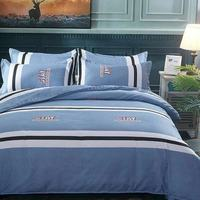 2019 Fashion Simple Style home bedding sets bed linen duvet cover flat sheet Bedding Set Full King Single Queen Supering King