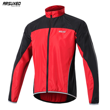 ARSUXEO Men's Cycling Windbreaker 2020 Windproof Cycling Jacket MTB Mountain Bike Jersey Bicycle Rain Coat Reflective 016 wosawe cycling windbreaker jacket cycling motocross riding outwear lightweight waterproof coat mtb bike jersey reflective coat