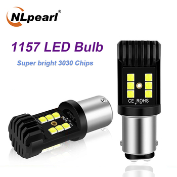 цена на NLpearl 2x Signal Lamp 1157 BAY15D PY21W LED Canbus Car Reserve Brake Light 1156 BA15S P21W BAU15S LED Auto Turn Signal Lamp 12V