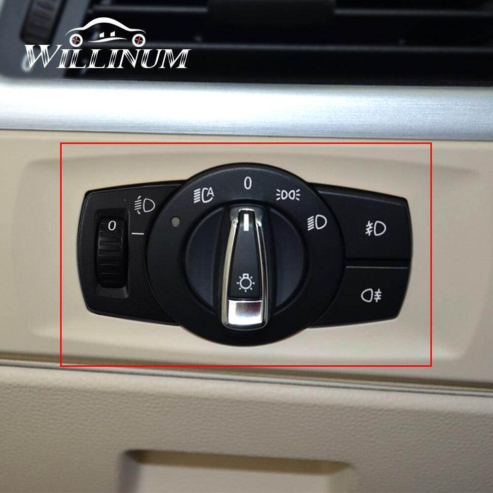 Переключатель фар автомобиля для BMW E90 E92 авто кнопки переднего освещения замена регулировки лампы регулятор мощности переключатель