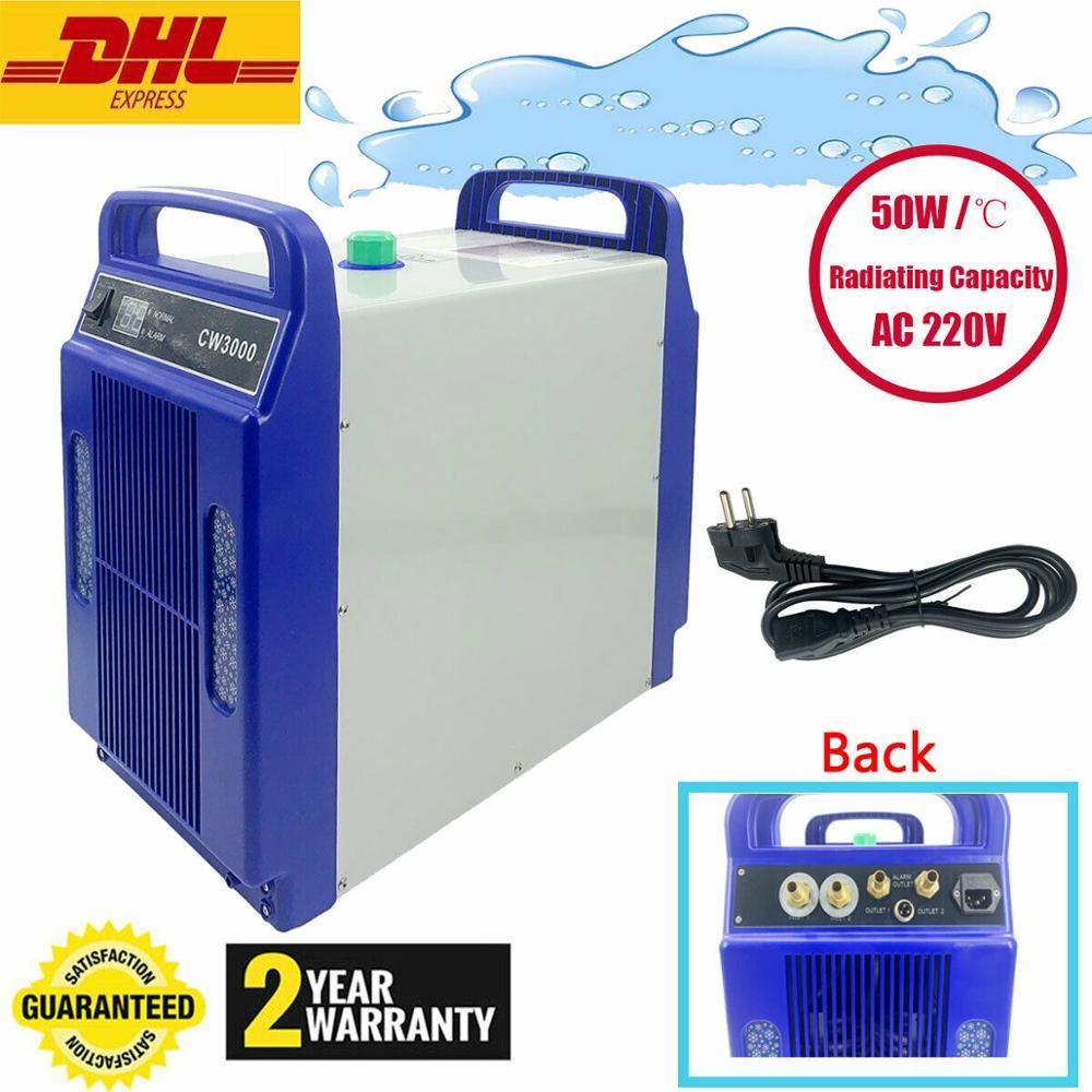 24L/min CW3000 Industrial Water Chiller Water Cooler Cooler Chiller Co2 Laser Engraver Tube Laser Tube Laser Machine 220V