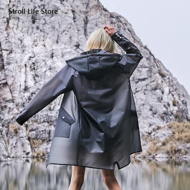 Transparent Long Raincoat Waterproof Clear Jacket Riding Hiking Outdoor Rain Coat Protection Travel Bicycle Rain Poncho Gift 1