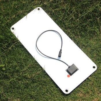 Новинка 2019, внешнее солнечное зарядное устройство 15 Вт, выход 12 В/5 В, полугибкая профессиональная солнечная панель, эффективный + 5 В USB кабел...