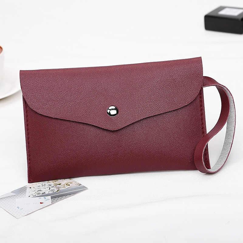 DIGERUI новая женская сумка-клатч удобный pu нулевой кошелек простая маленькая квадратная сумка модная сумка для девочек Однотонные Дневные ключи