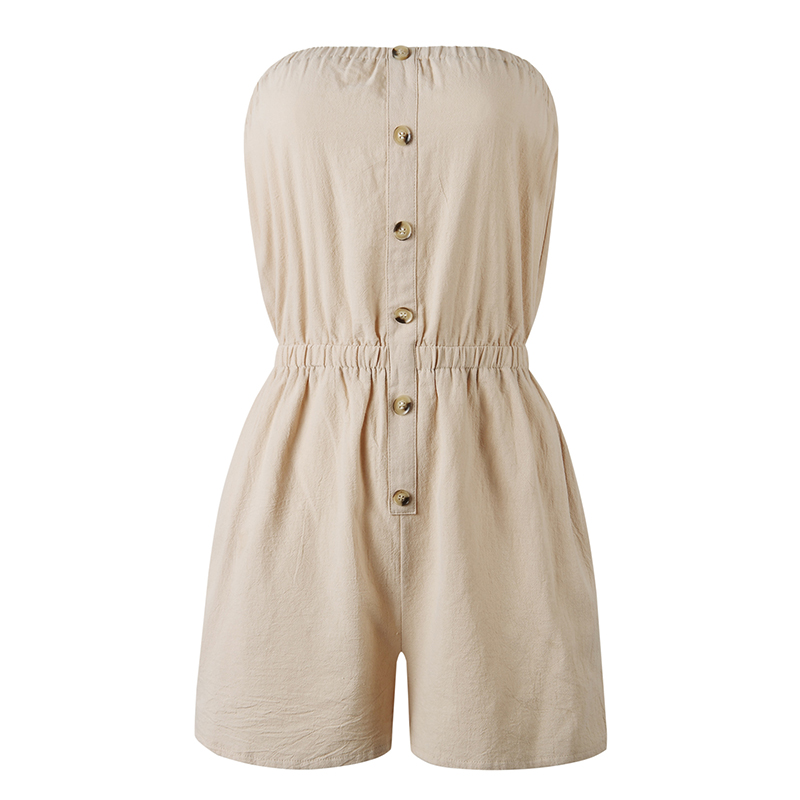 Sexy Jumpsuit Romper Womens Beach-Shorts Casual Summer Sleeveless Ladies Hot Bandeau