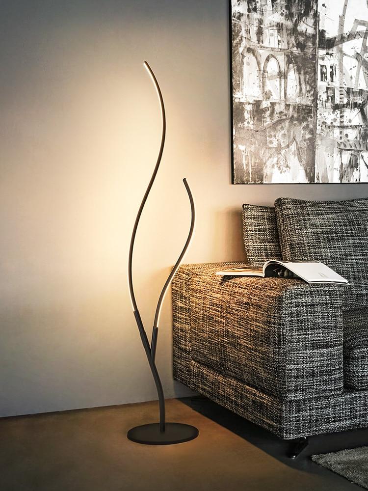 Современный минималистичный СВЕТОДИОДНЫЙ торшер, вертикальная лампа, Скандинавская гостиная, светодиодный, черный/белый, алюминиевый