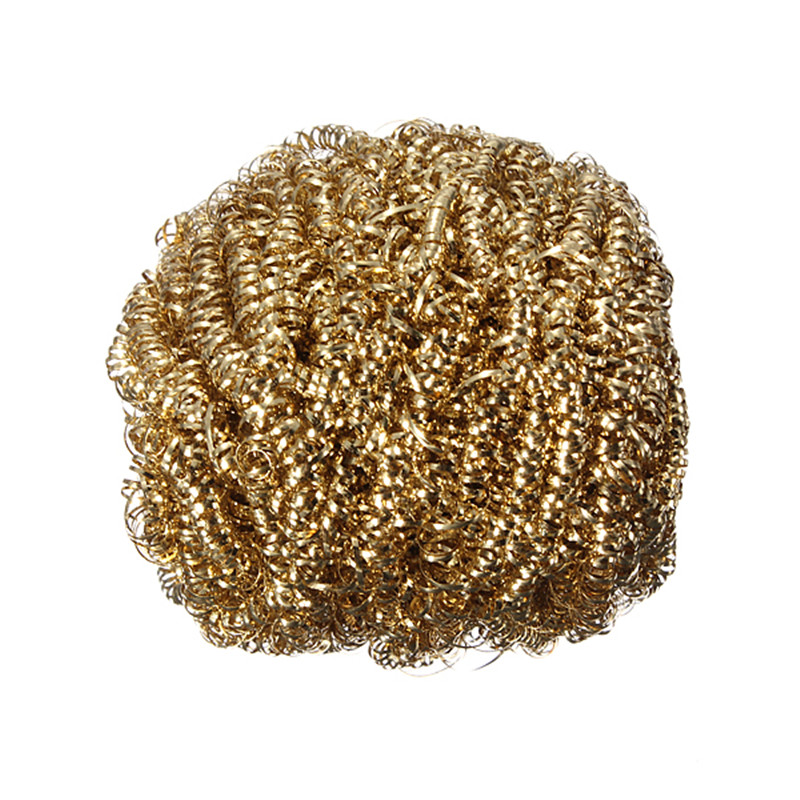 New Welding Soldering Solder Iron Tip Cleaner Cleaning Steel Wire Sponge Ball New High Quality