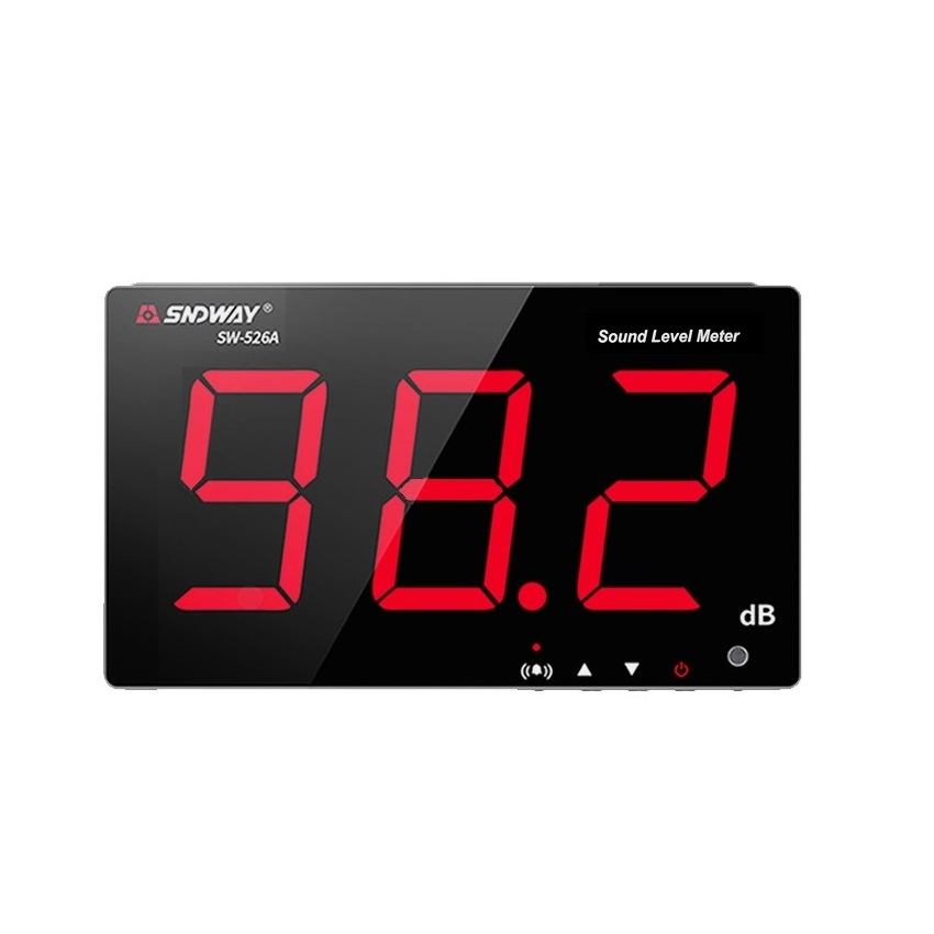 SNDWAY SW-526A 30-130dB Digital Sound Level Meter Data PC via USB Wall hanging Noise Decibel Monitoring Tester Diagnostic-tools