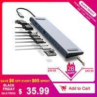 S SKYEE 12 in 1 USB Type C HUB to HDMI RJ45 Multi USB3.0 Power Adapter For MacBook Pro Air Dock 3 Port HUB Splitt