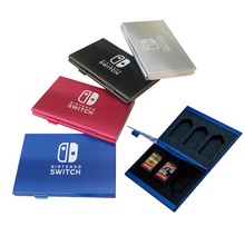 6 in 1 Portable Slots Aluminum Game Card Storage Box Case Holder Storage Box for Nintendo Switch Accessories